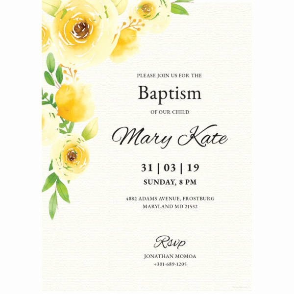 Baptism Invitation Template Microsoft Word Awesome 30 Baptism Invitation Templates – Free Sample Example format Download