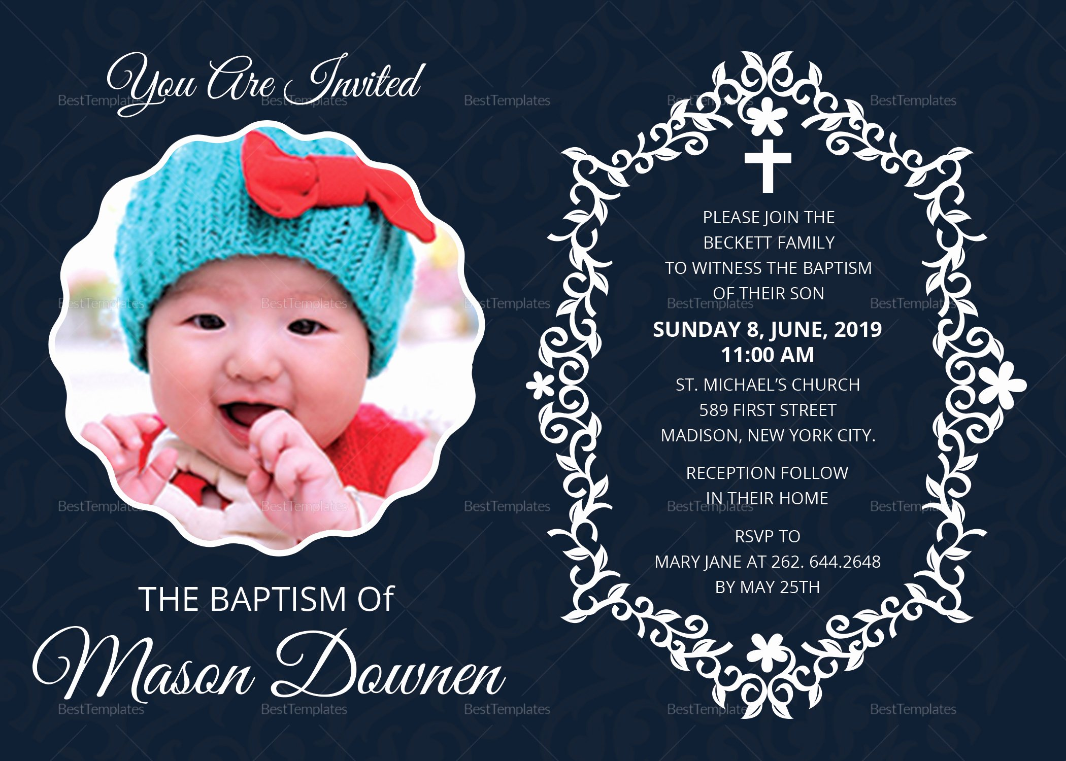 Baptism Invitation Template Microsoft Word Fresh Christening Baptism Invitation Design Template In Word Psd Publisher