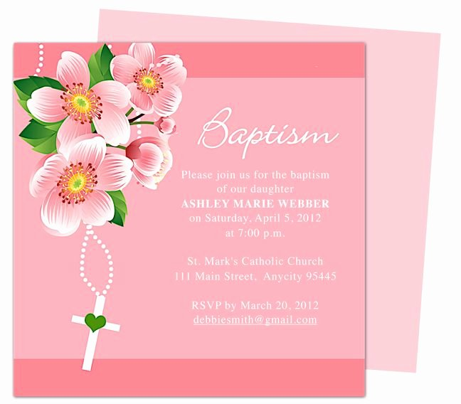 Baptism Invitation Template Microsoft Word New 21 Best Images About Printable Baby Baptism and Christening Invitations On Pinterest