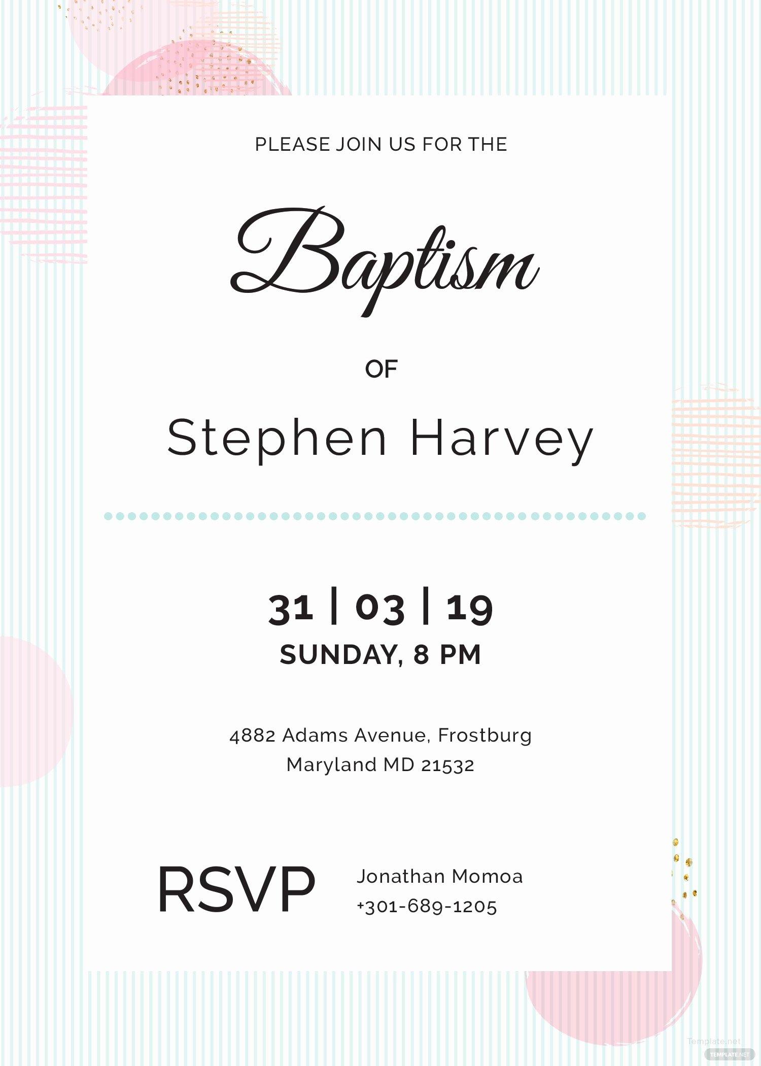 Baptism Invitation Template Microsoft Word Unique Sample Baptism Invitation Template In Adobe Shop Illustrator Microsoft Word Publisher