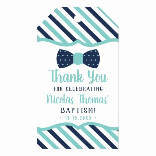 Baptism Thank You Tags Awesome Little Man Thank You Tag Navy Turquoise Baptism Gift Tags