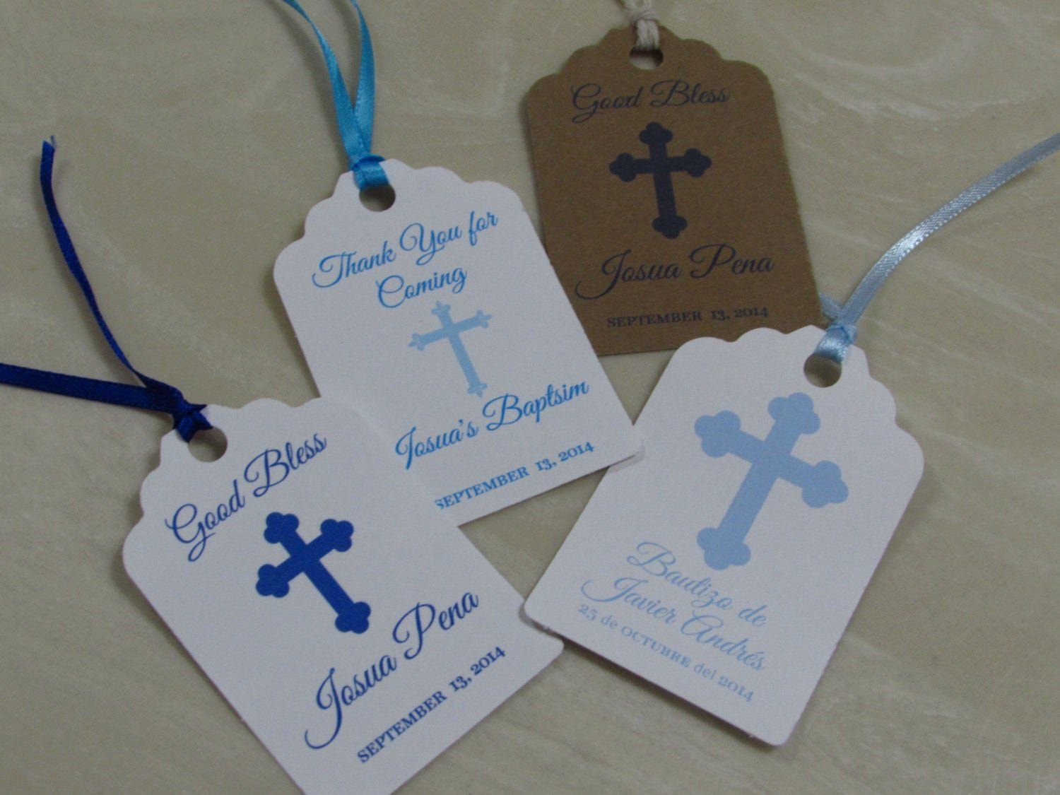 Baptism Thank You Tags Best Of Personalized Favor Tags 2 1 2 Baptism Tags Thank