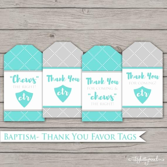 Baptism Thank You Tags Elegant Baptism Favor Tags Lds Digital Printable Thank You Gift
