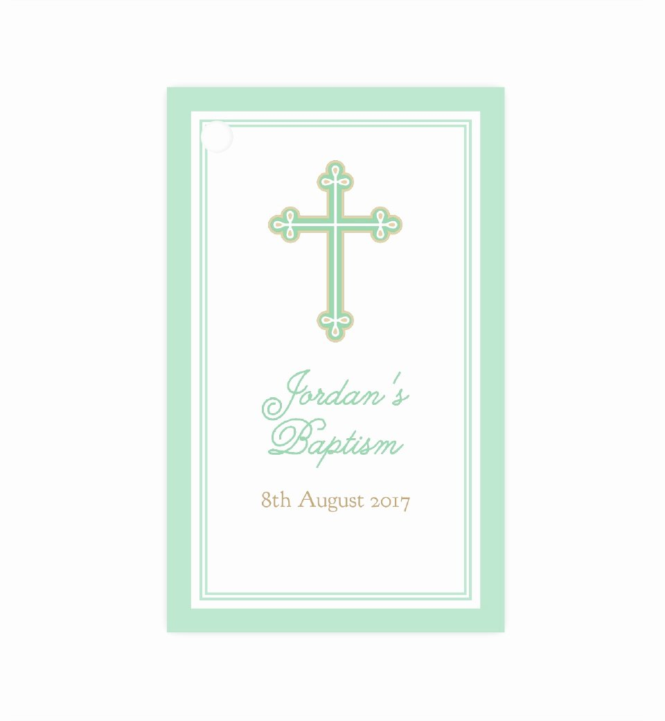 Baptism Thank You Tags Fresh Sweet & Simple Baptism Mint Thank You Tag
