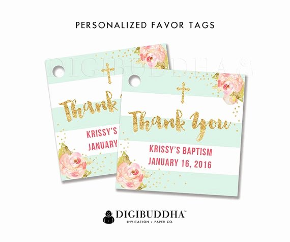 Baptism Thank You Tags Lovely Favor Tags Baptism Favor Tag Thank You Tag Baby Shower Favor