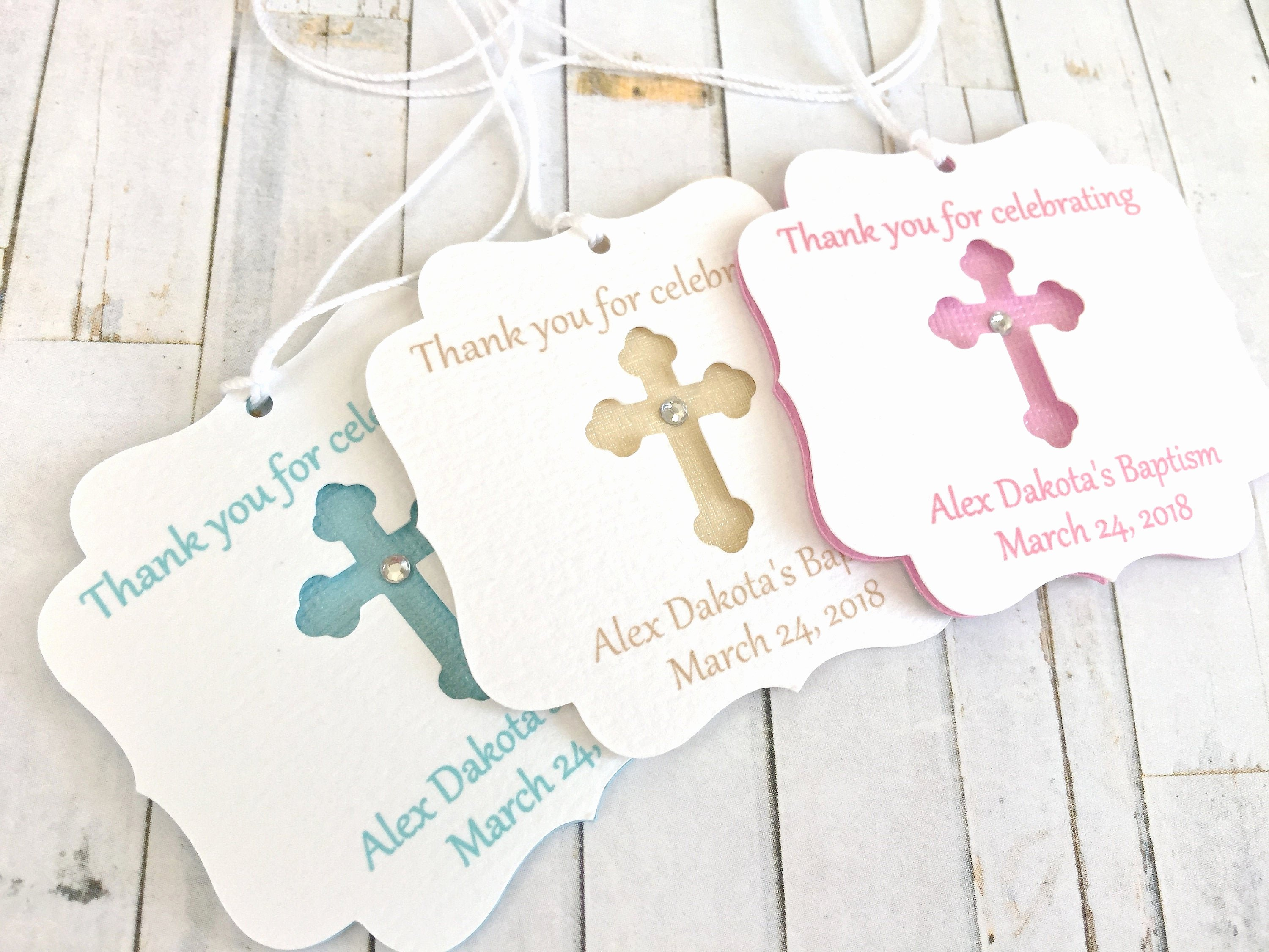 Baptism Thank You Tags Luxury Gold Baptism Favor Tags Mi Bautizo Mi Baptism Baptism Thank