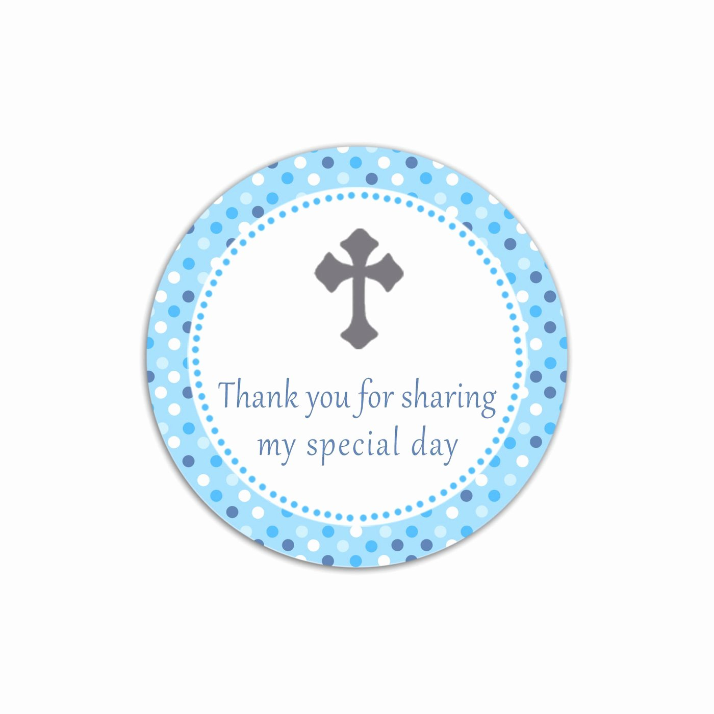 Baptism Thank You Tags New Christening Boy Baptism Favor Label Tag Blue Gray Printable – Pink the Cat