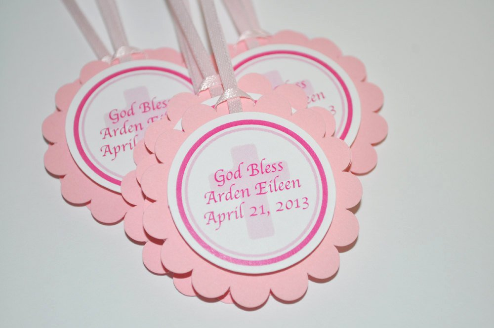 Baptism Thank You Tags Unique Girls Baptism Favor Tags First Munion Favor Tags Thank You Favor Tags Religious Party