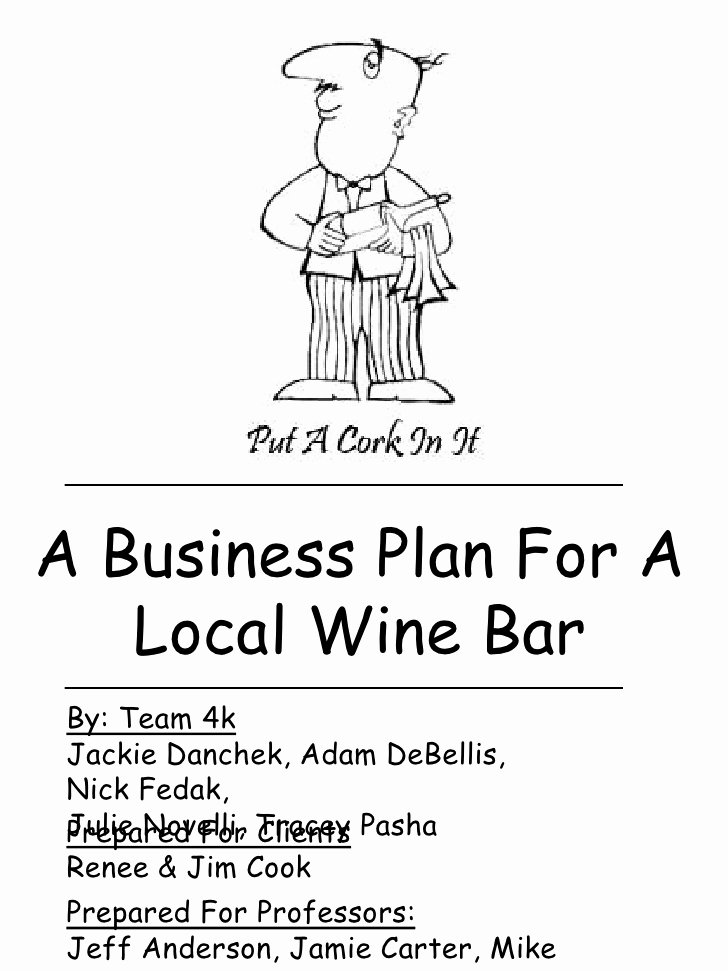 Bar Business Plan Pdf Fresh Local Wine Bar Business Plan