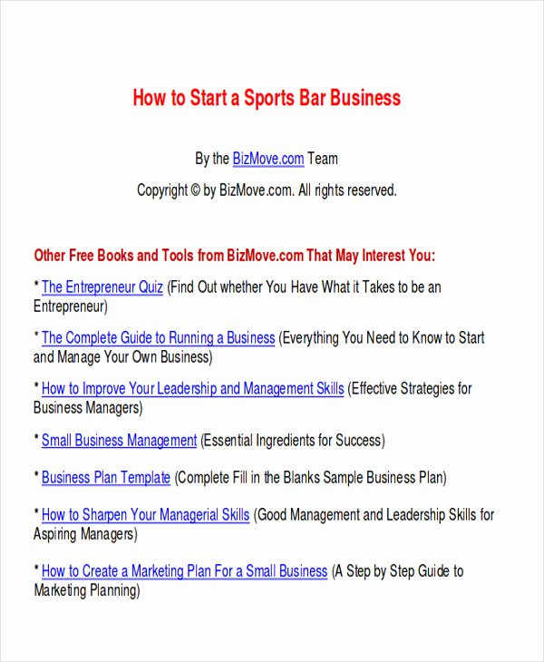 Bar Business Plan Pdf Lovely 10 Sample Bar Business Plans Examples In Word Pdf