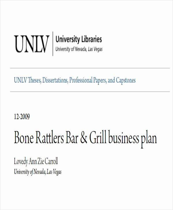 Bar Business Plan Pdf Unique 10 Sample Bar Business Plans Examples In Word Pdf