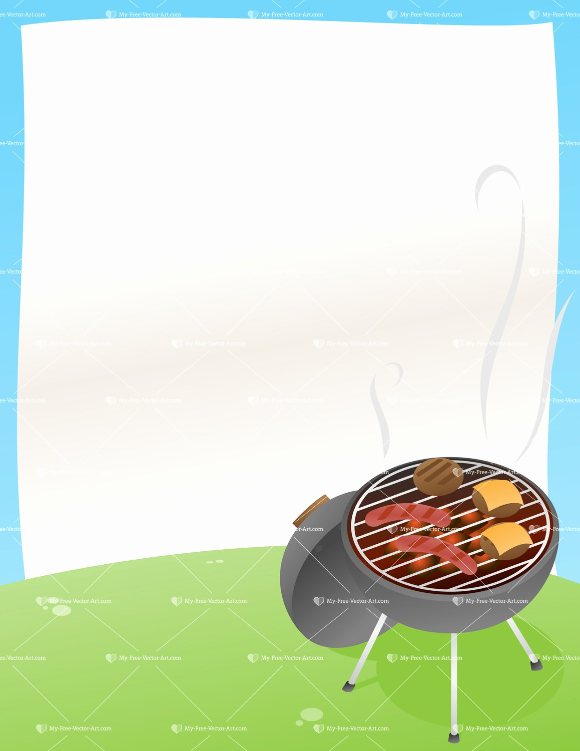 Barbeque Flyer Templates Free Awesome Bbq Announcement — Vector Illustration Of A Bbq Grill with A Background Ready for Your Own