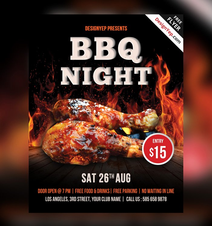 Barbeque Flyer Templates Free Beautiful 25 Bbq Flyer Psd Templates Free & Premium Designyep