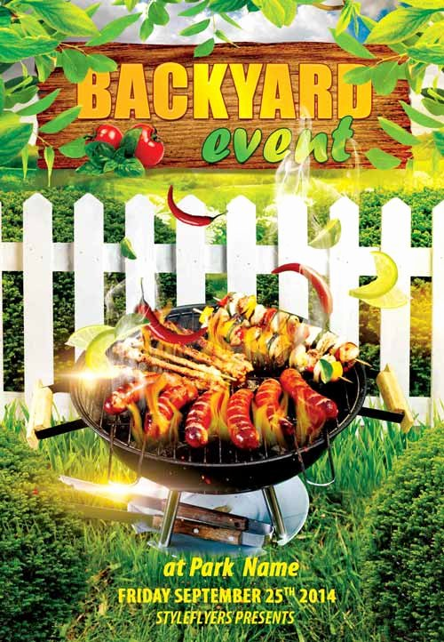 Barbeque Flyer Templates Free Beautiful Backyard Bbq event Free Flyer Template Download Free Psd Flyer