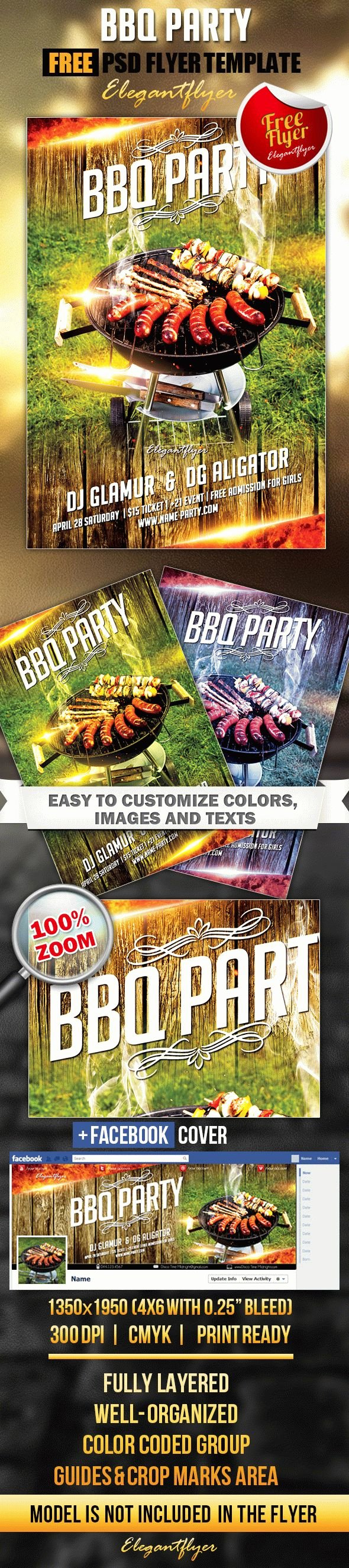 Barbeque Flyer Templates Free Beautiful Bbq Party Free Flyer Psd Template Cover