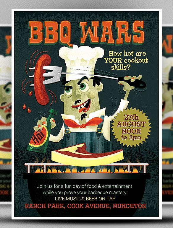 Barbeque Flyer Templates Free Best Of 20 Bbq Flyer Templates – Free Word Pdf Psd Eps Indesign format Download