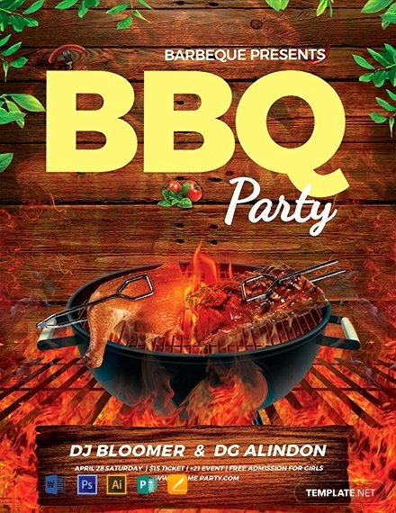 Barbeque Flyer Templates Free Best Of Free Bbq Flyer Template Word Psd Apple Pages Publisher Illustrator