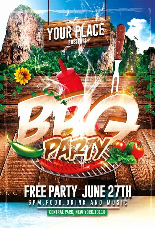 Barbeque Flyer Templates Free Elegant Bbq Party Flyer Templates Psd 003 Creativeflyers