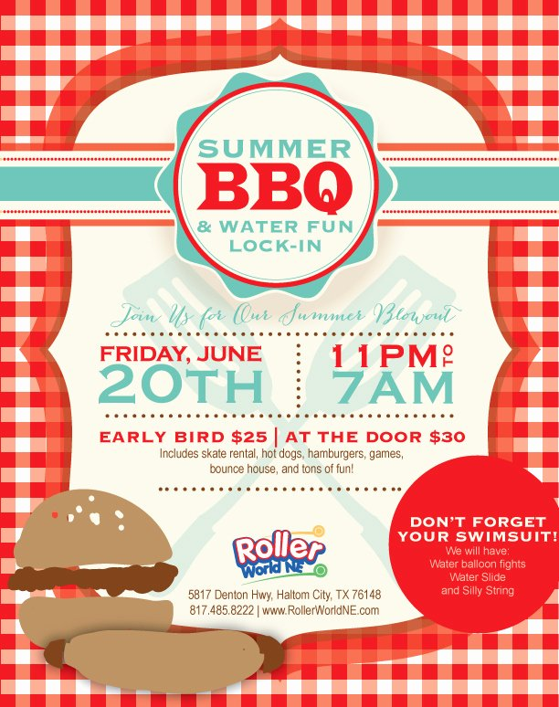 Barbeque Flyer Templates Free Fresh Summer Water Lock In