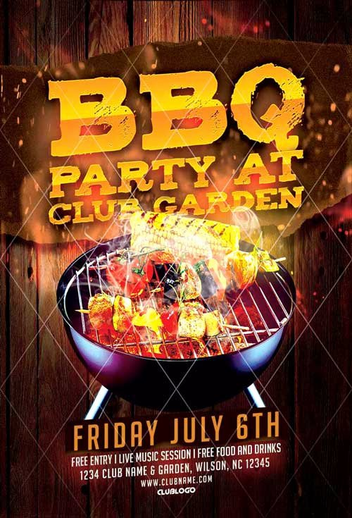 Barbeque Flyer Templates Free Lovely Downoad 20 Tasty Bbq event Flyer Templates