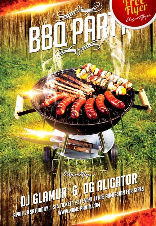 Barbeque Flyer Templates Free Luxury Free Bbq Party Flyer Template Download