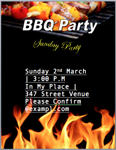 Barbeque Flyer Templates Free Unique Bbq Party Invitation Flyer Template Word Templates