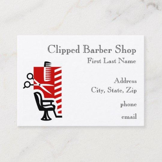 Barber Shop Business Card Awesome Barber Shop Business Cards