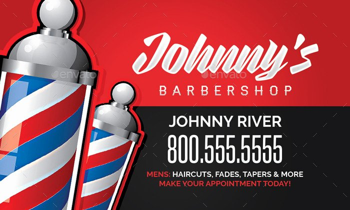 Barber Shop Business Card Awesome Barbershop Business Card Template by Flyerpunkz