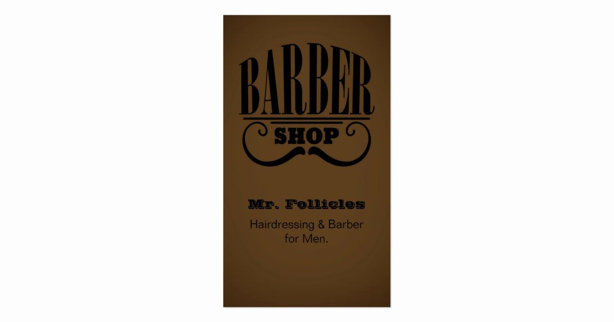 Barber Shop Business Card Fresh Gentlemen S Barber Shop Business Card
