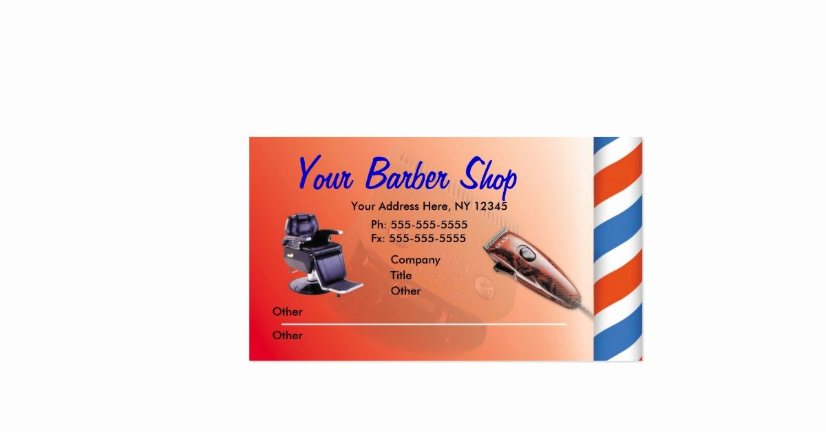 Barber Shop Business Card Inspirational Barber Shop Business Cards