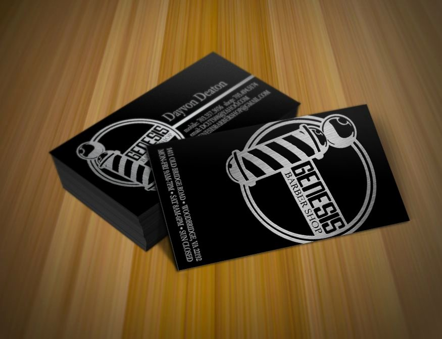 Barber Shop Business Card Inspirational Barbershop Business Cards Design In 2019