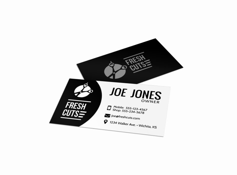Barber Shop Business Card New Black Barber Shop Business Card Template