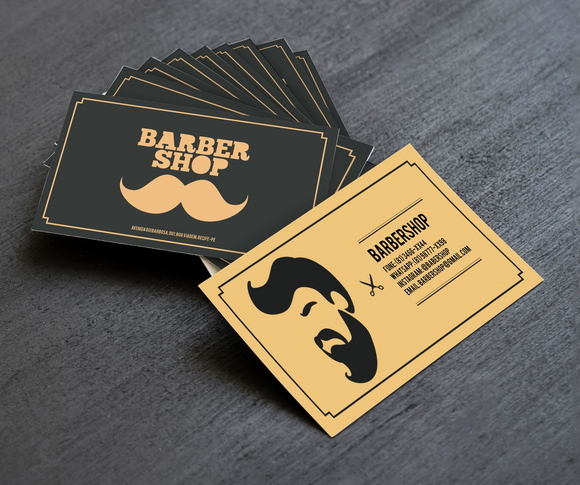 Barber Shop Business Card Unique top 27 Professional Barber Business Cards Tips & Examples
