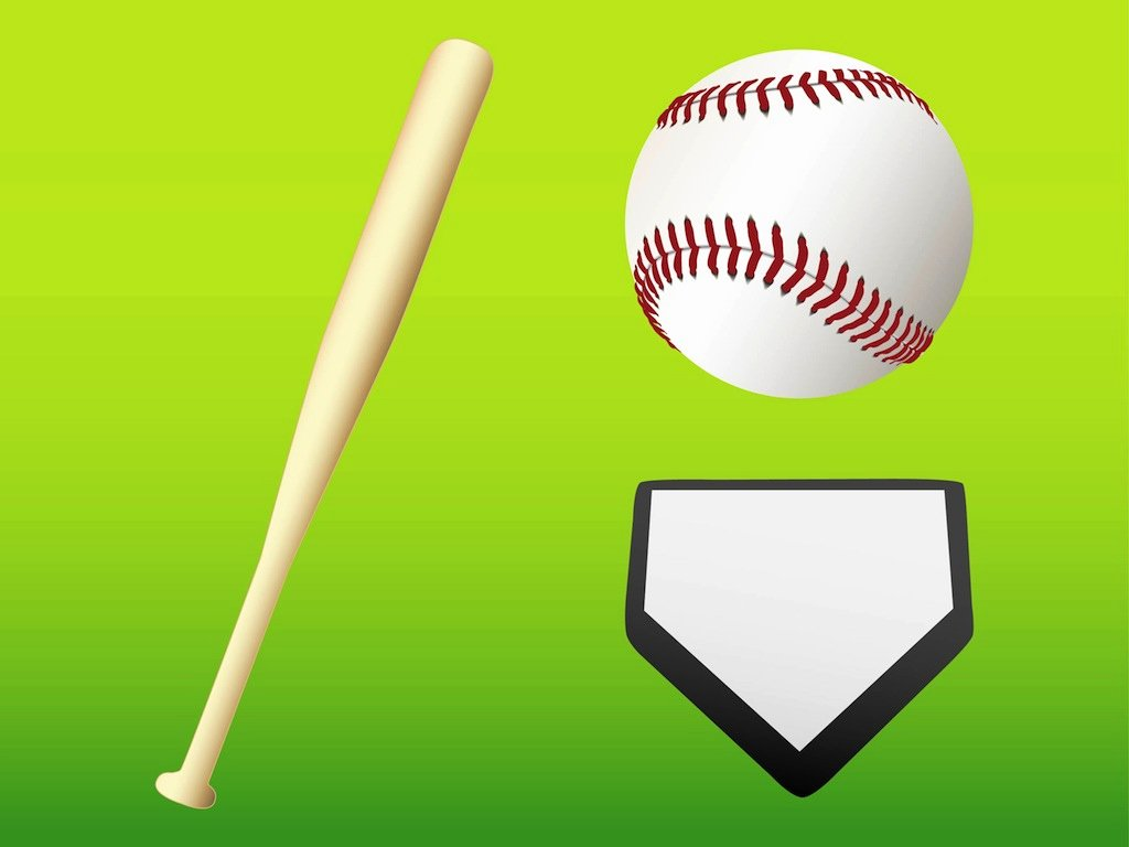 Baseball Bat Vector Free Best Of Baseball Gear Vector Art & Graphics