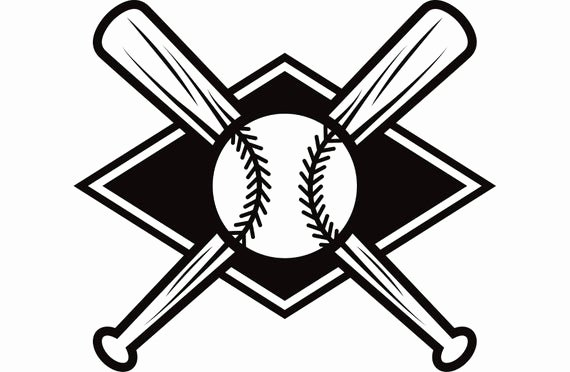 Baseball Bat Vector Free Fresh Baseball Logo 7 Bats Crossed Ball Diamond League Equipment