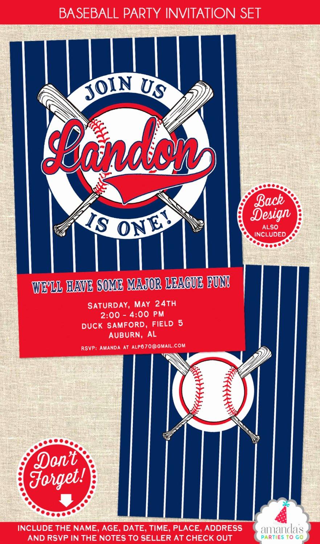 Baseball Birthday Party Invitations Beautiful Baseball Birthday Invitation Baseball Party Invitation