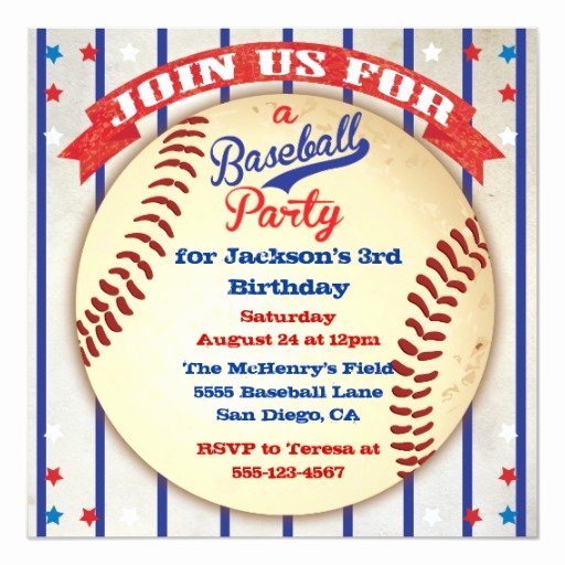 Baseball Birthday Party Invitations Beautiful Baseball Birthday Party Invitation