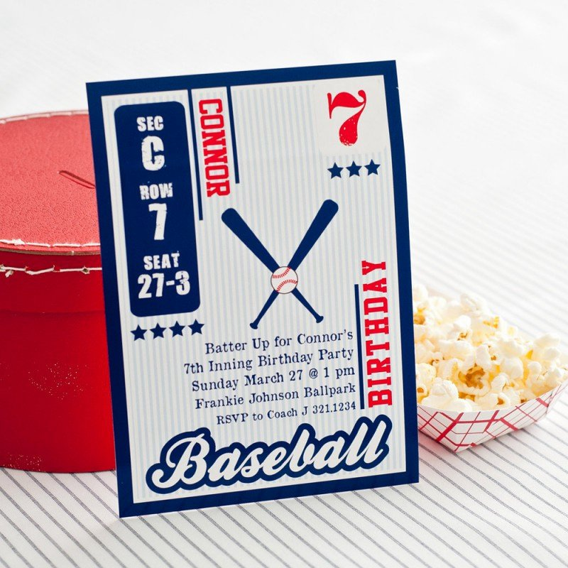 Baseball Birthday Party Invitations Beautiful Vintage Baseball Card Birthday Party Printable Invitation