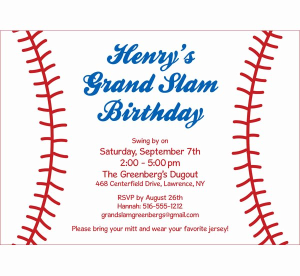 Baseball Birthday Party Invitations Elegant Baseball Party Invitation