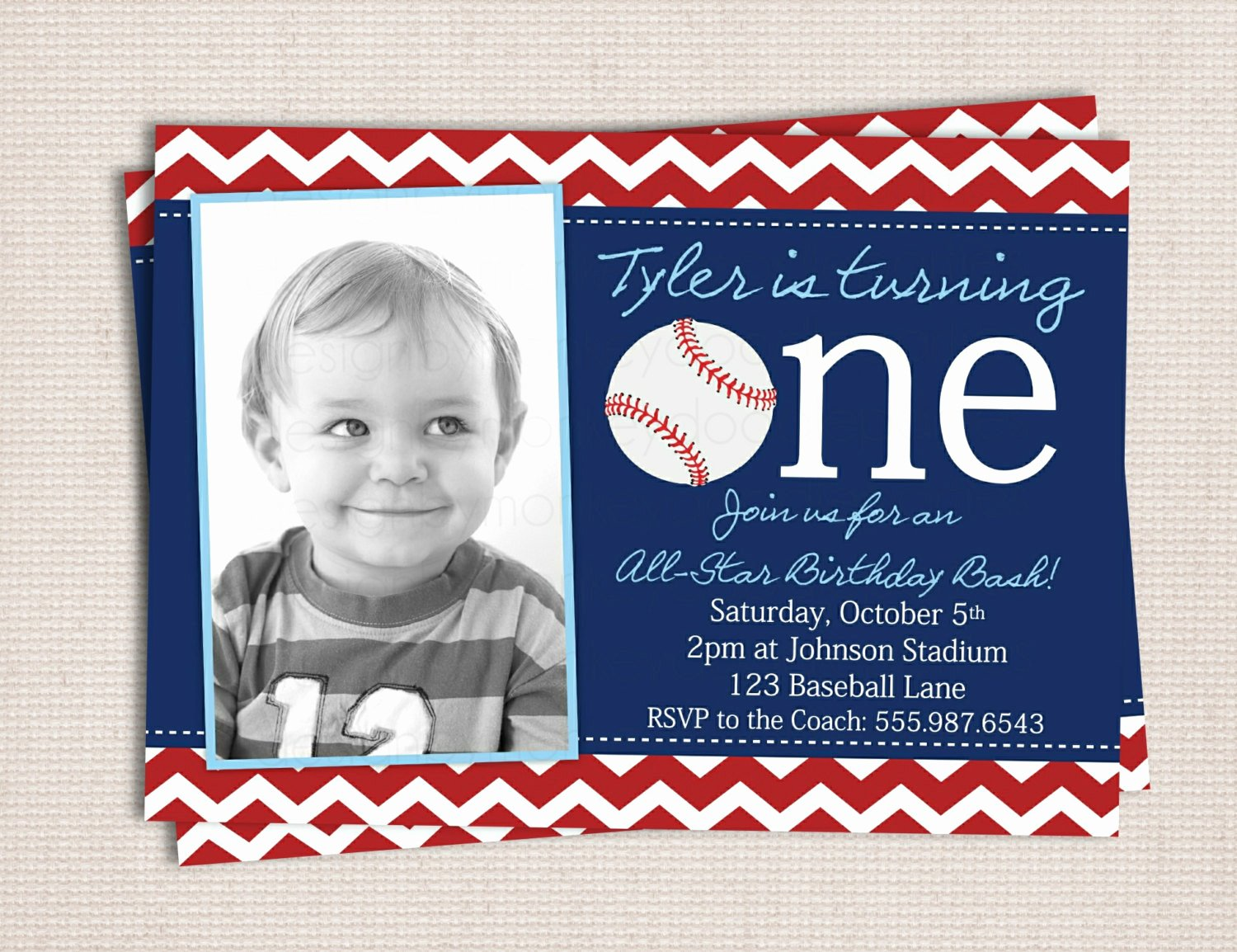 Baseball Birthday Party Invitations Fresh First Birthday Baseball Party Printable Invitation