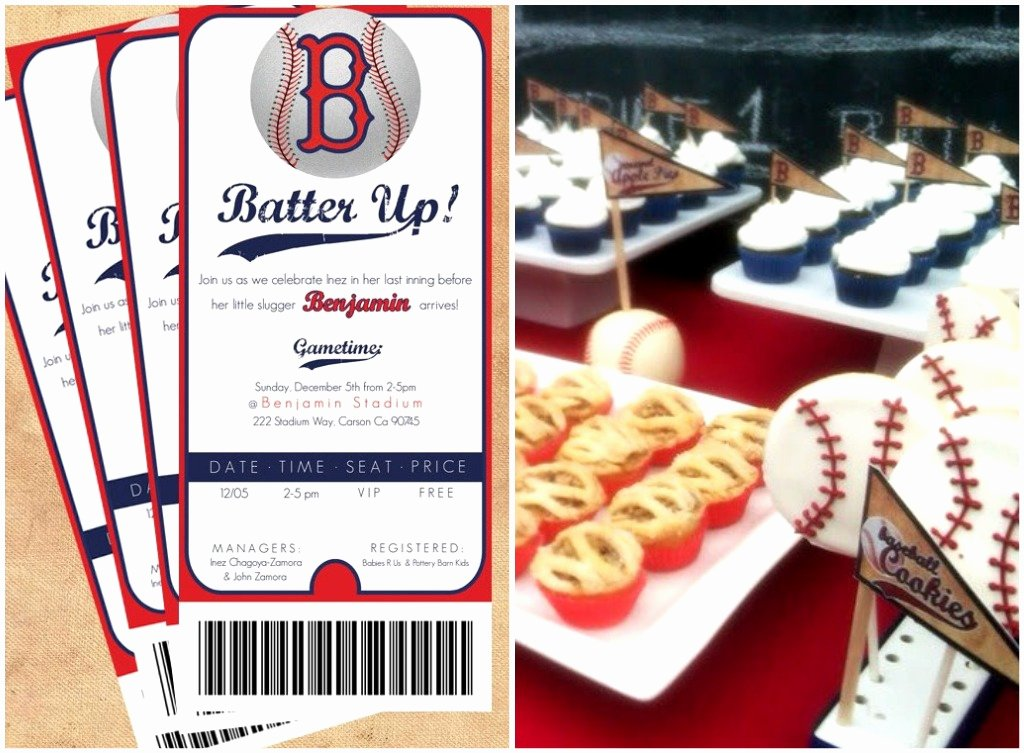 "Baseball Birthday Party Invitations Fresh Kami Buchanan Custom Designs Cute ""batter Up"" Baseball Shower"