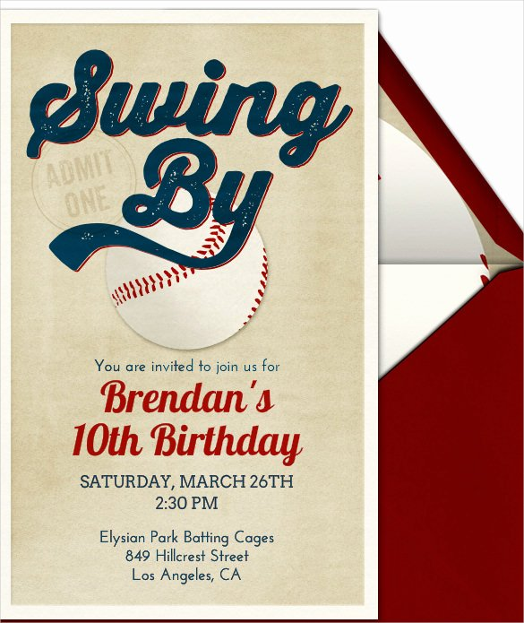 Baseball Birthday Party Invitations Luxury 22 Baseball Birthday Invitation Templates – Psd Word Ai