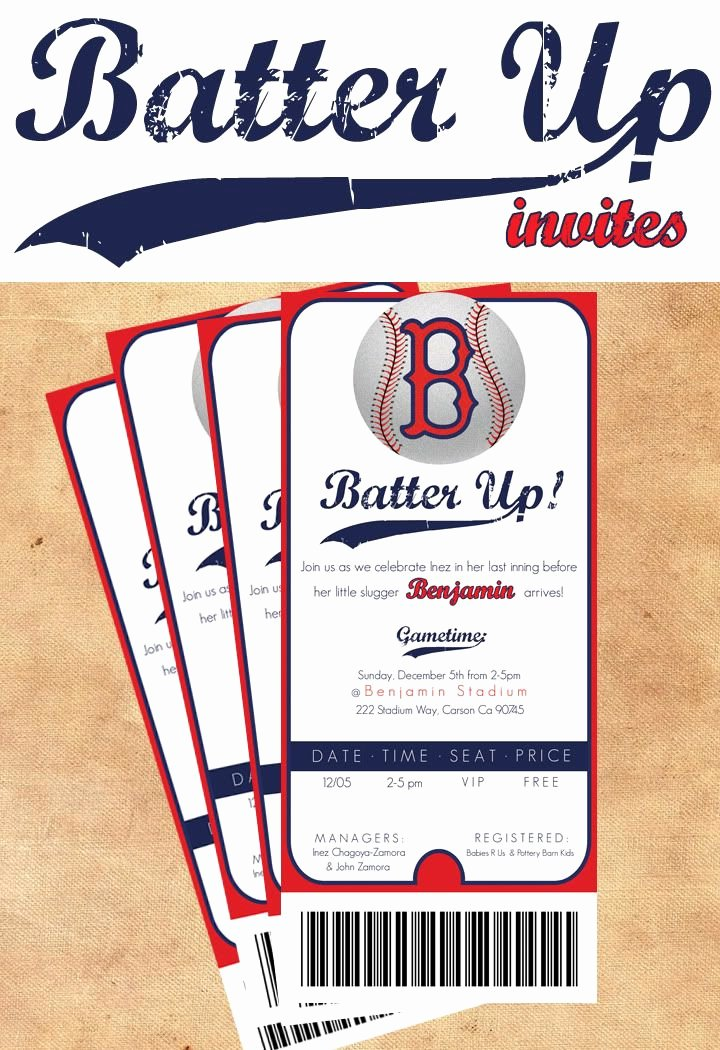 "Baseball Birthday Party Invitations New Funfavors events Thursday Party ""batter Up"" Baseball Party"