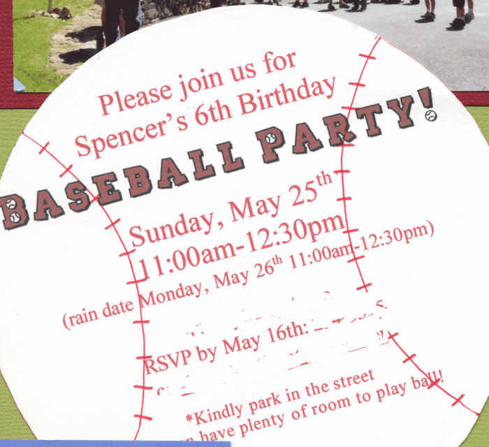 Baseball Birthday Party Invitations New Great 6 Year Old Birthday Party Idea A Baseball Party Mom 6