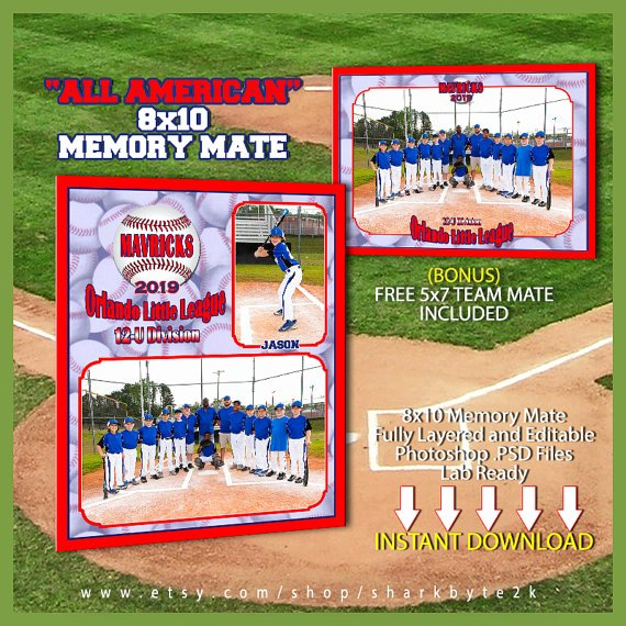 Baseball Card Template Photoshop Awesome Baseball Memory Mate Template for Shop All by Sharkbyte2k