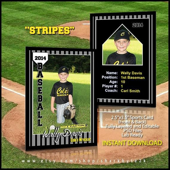 Baseball Card Template Photoshop Beautiful 2017 Baseball Sports Trader Card Template for Shop