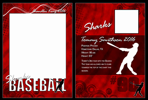 Baseball Card Template Photoshop Beautiful Baseball Cutout Trading Card Shop & Elements