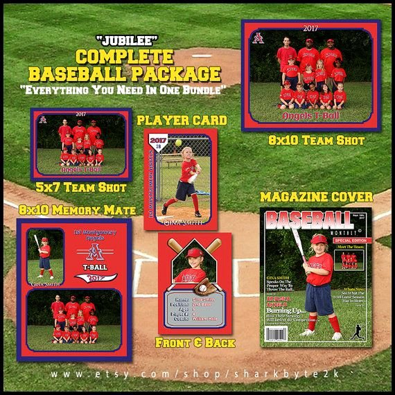 Baseball Card Template Photoshop Beautiful Baseball Template for Shop Package Includes Player Trading Card Memory Mate Magazine