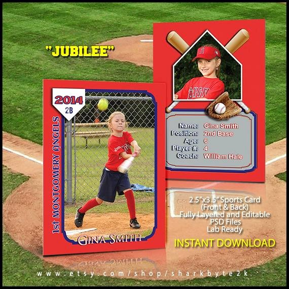 Baseball Card Template Photoshop Elegant 2017 Baseball Sports Trader Card Template for Shop