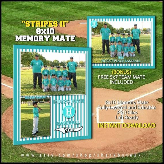 Baseball Card Template Photoshop Lovely 2019 Baseball Sports Memory Mate Template for Shop